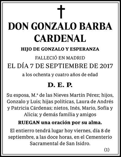 Gonzalo Barba Cardenal